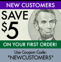 New Customers Get $5 OFF!